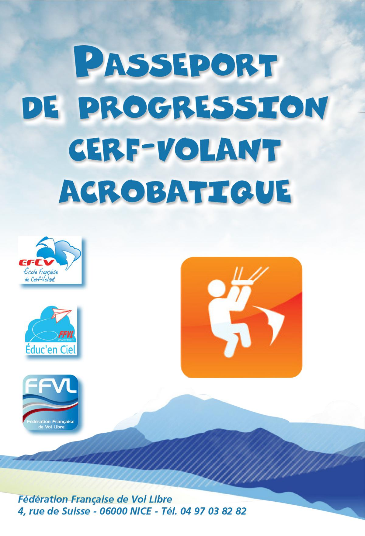 Passeport de progression cerf-volant acrobatique